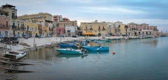 Alter Hafen Puglia Italien Bisceglie Stockfotos