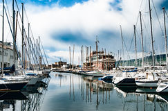 Alter Hafen in Triest, Italien Lizenzfreie Stockfotos