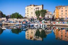 Alter Hafen von Ajaccio, Korsika-Insel, Frankreich Stockfotografie