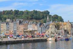 Alter Hafen von Honfleur, die französische normannische Stadt Stockfotos