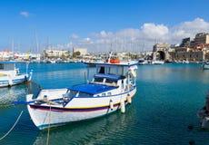 Alter Hafen von Iraklio, Kreta, Griechenland Lizenzfreie Stockfotografie