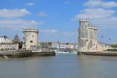 alter Hafen von La Rochelle in Frankreich Stockfotos