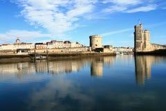 Alter Hafen von La Rochelle, Frankreich Stockbild