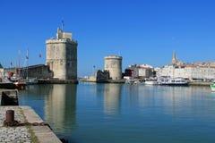 Alter Hafen von La Rochelle, Frankreich Lizenzfreies Stockfoto