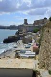 Alter Hafen von Malta stockfoto