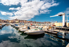Alter Hafen von Marseille Stockfotos