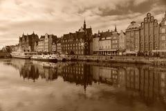 Alter Hafenkanal in Gdansk Stockfotografie