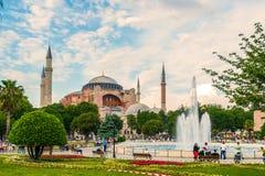 Alter Hagia Sophia Exterior Lizenzfreies Stockfoto