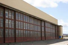 Alter Hangar stockfotografie