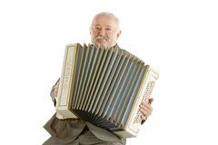 Alter Harmonikaspieler Lizenzfreie Stockfotos