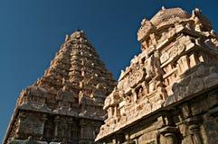 Alter hinduistischer Tempel in Indien stockbild