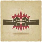 Alter Hintergrund des Durchschlagsfaustkampf-Symbols Lizenzfreie Stockfotografie