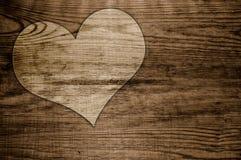 Alter Hintergrund des Heartwood Stockbilder