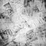 Alter Hintergrund mit Zeitung Stockfoto