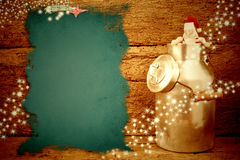 Alter Hintergrund Santa Christmas-Karte Stockbild