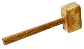 Alter Holzhammer Lizenzfreies Stockbild