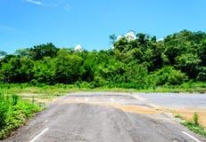 Alter Hubschrauber-Landeplatz auf dem Berg Stockfotos