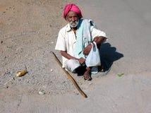 Alter indischer Mann Lizenzfreie Stockfotos
