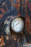 Alter industrieller Thermometer Stockfotos