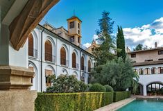 Alter islamischer Palast, in Murcia lizenzfreies stockbild