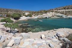 Alter Itanos Bereich in Kreta-Insel, Griechenland Stockfotografie