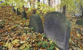 Alter jüdischer Kirchhof Lizenzfreies Stockbild