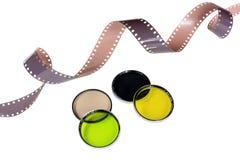 Alter Kamerafilm und -filter Lizenzfreie Stockfotos