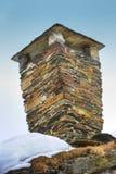Alter Kamin in Norwegen Stockfotos