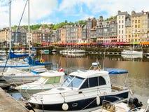 Alter Kanal Honfleur (05), Normandie, Frankreich Stockfotografie