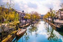 Alter Kanal Kurashiki lizenzfreies stockfoto
