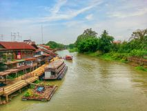 Alter Kanal Thailands stockfoto