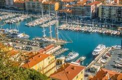 Alter Kanal von Nizza Stockbilder
