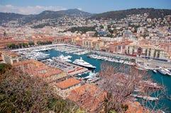 Alter Kanal von Nizza, Frankreich. Allgemeine Ansicht Lizenzfreies Stockbild