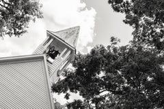 Alter Kirchenc$glocke-turm Stockbilder