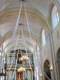 Alter Kircheninnenraum, Litauen Lizenzfreies Stockbild