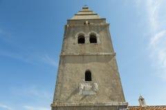 Alter Kirchturm bei Lubenice in Insel Cres in Kroatien Lizenzfreie Stockfotos