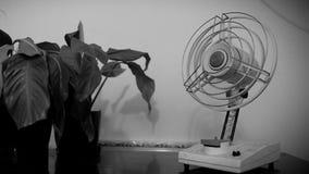 Alter kleiner gebrochener Fan, Kühlvorrichtung stock video footage