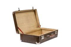 Alter Koffer Abbildung der roten Lilie Lizenzfreie Stockfotografie