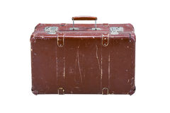 Alter Koffer auf einem weißen Hintergrund Lizenzfreies Stockfoto