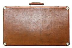 Alter Koffer braune Farbe auf einem weißen Hintergrund Lizenzfreies Stockbild