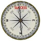 Alter Kompaß. Kurs zum Erfolg stock abbildung