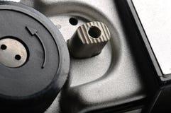 Alter kompakter Film Kameraverschluss Stockfotografie