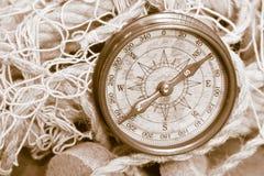 Alter Kompass Lizenzfreie Stockfotografie