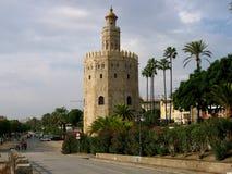 Alter Kontrollturm in Sevilla Stockfotografie