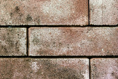 Alter kopierter Hintergrund des Ziegelsteinrotes Block Abstrakter Ziegelstein gemasert Lizenzfreie Stockfotografie