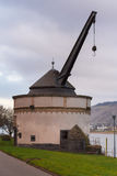 alter krahnen crane in andernach germany Royalty Free Stock Images