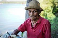 Alter kubanischer Mann stockbild