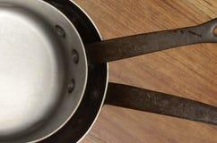 Alter kupferner kochender Topf Stockbild