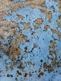 Alter Lack auf der Wand Stockbild