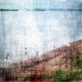 Alter Landschaftshintergrund stock abbildung